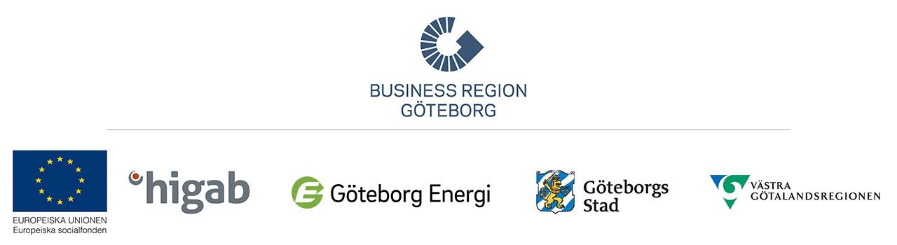 Logotyper från samverkanspartners i projektet