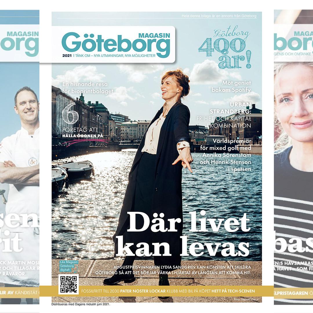 Omslag till årets och de två tidigare åren av Magasin Göteborg