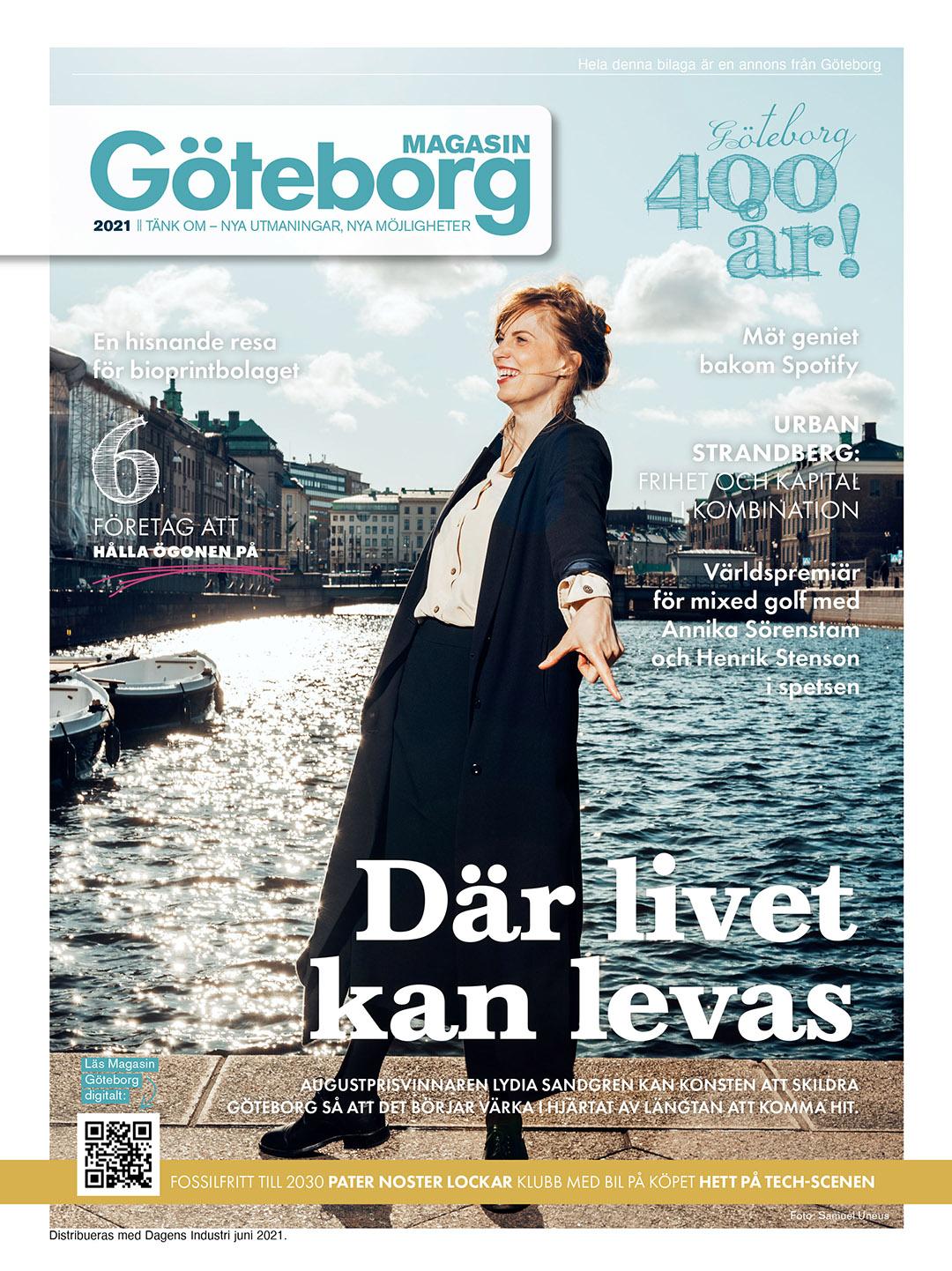 Startbild magasin göteborg med Lydia Sandgren
